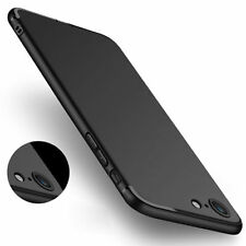 Ultra Thin Dirtproof Silicone Rubber Full Cover Case Skin for iPhone 7 Black
