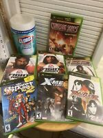 Lot Of 7 Complete Original XBOX Games X-Men NBA Street 2 Soul Caliber Fight 1 2