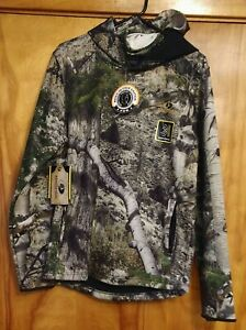 NEW Men's Small S Youth L Mossy Oak Camo Camouflage Hoodie Gaiter Zipped Pockets