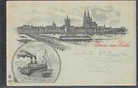 KÖL 37441) AK Gruss aus Cöln 1902