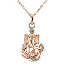 Ganesh Chaturthi Special Offer God Ganpati Pendant Necklace Yellow Gold over
