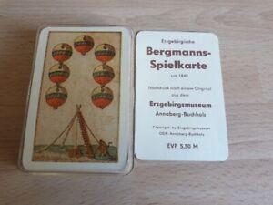 Erzgebirgische Bergmannspielkarte , Nachdruck Erzebirgsmuseum
