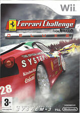 FERRARI CHALLENGE DELUXE for Nintendo Wii - with box & manual - PAL