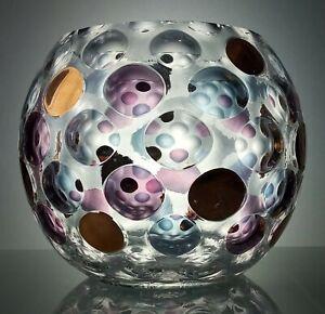 Borske, Czech Sklo Union 'Nemo' Optical Lens Ball Vase by Max Kannegiesser