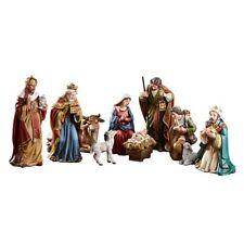 "9 Piece Michael Adams Nativity Scene 5"" Figures Gift Boxed"