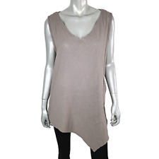 Oh My Gauze! Womens Asymmetric Top Size 2 Large Lagenlook Pocket 100% Cotton