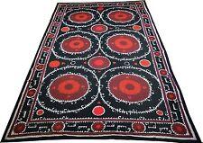 Uzbek Antique Suzani Silk Embroidery Wall Hanging Handmade Vintage Large 125