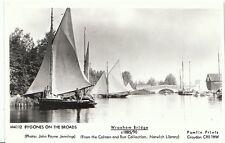 Norfolk Postcard - Bygone on The Broads - Wroxham Bridge c1885/90 -  BX770