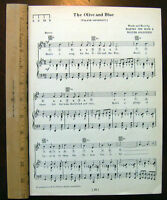 """UNIVERSITY OF NOTRE DAME Song Sheet c1929 /""""When the Irish Backs Go Marching By/"""""""