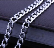"Men Charms Necklace Fashion Jewelry Stainless Steel 24"" Chain Hot Link"