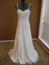 New Wedding Gown, Landa, White Chiffon, Size 6