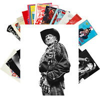 Postcards Pack [24 cards] Willie Nelson Country Folk Music Vintage Poster CC1247