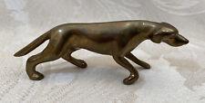 More details for vintage brass pointer / lurcher gun dog - 10.5cm figurine ornament