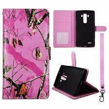 For LG G4 Us991 Wallet Camo Pink Mozzy Cover Uni Case Split