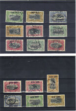 Belgisch Belgian Congo Belge,15 counterfeit CB overprints, 6 inverted; 3 scans