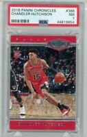 2018-19 Panini Chronicles Plates & Patches #388 Chandler Hutchison 31/249 PSA 7
