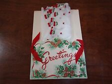 VINTAGE NEW HANDKERCHIEF HANKIE SWITZERLAND HOLIDAY GREETING PACKET PRETTY