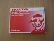 Honda XR 600 R n PE04 1992 manuel du conducteur owners manual Instruktieboek