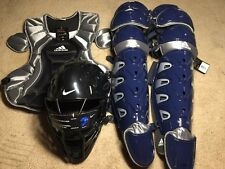 Set Of Catchers Gear Nike Mask, Adidas Chest Protector And Shin Guards NWT