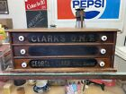 Antique Clark s ONT 3 Drawer Cotton Spool Cabinet Store Counter Display