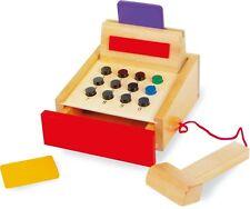 Kasse Bunt Holz Kaufladen Kinder Scanner Spielzeugkasse Kinderkasse Zubehör Neu