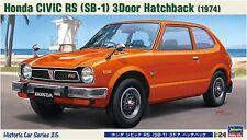 Hasegawa HC-25 Honda Civic RS (SB-1) 3 Door Hatchback 1/24 Scale Kit PRE ORDER