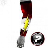 Baseball Basketball Superhero Sports Compression Dri-Fit Arm Sleeve Flash
