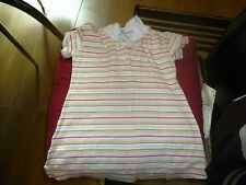 baby girls pink,red,green and white striped t-shirt dress,size 18/23 months