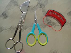 "6"" VIKING HUSQVARNA Applique Quilt Scissors plus microtip clips stretch n sew"