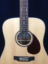 Caraya Solid Spruce Top Dreadnought Acoustic Guitar Natural Matt + Free gig bag