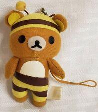 rare Rilakkuma Plush phone accessory x-mas tree ornament San-X 3 inch tall bee