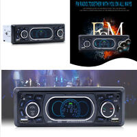 Car 1 Din Bluetooth Stereo Audio MP3 Player FM/Radio/AUX/TF Built-in Microphone