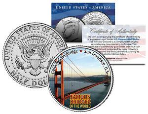GOLDEN GATE BRIDGE * Famous Bridges * JFK Half Dollar U.S. Coin San Francisco
