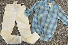 ~Justice~ Girls Shirt Top Size 8 Skinny Jeans Size 7 Reg