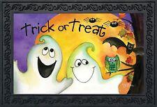 """Trick or Treat Ghouls Halloween Doormat Ghosts Indoor Outdoor 18"""" x 30"""""""