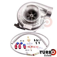 T70 Turbo Turbocharger T3 V-band Flange 0.70 A/R + Oil Drain Return FEED Lines