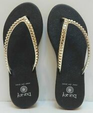 Dizzy Ripples Comfort Flip Flop Extra Cushioned Women's Black Size 7