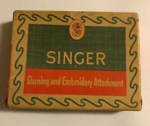 Vintage Singer Darning & Embroidery Attachment -15 & 221 Featherweight machines