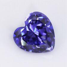 Beautiful Unheated 1.35ct 6x6mm Blue Tanzanite Heart Shape AAAAA Loose Gemstone