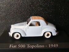 FIAT 500 TOPOLINO 1949 LIGHT BLUE RBA COLLECTABLES 1/43 AZUR BLEU BLAU BLISTER