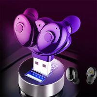 USB Bluetooth Headset TWS Wireless Earphones Mini Earbuds Stereo Headphones Y