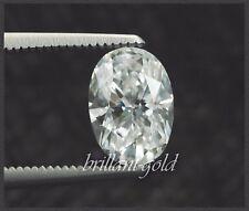 Natürlicher Diamant im Oval Schliff mit 0,67 ct mit Zertifikat, River E / VS2