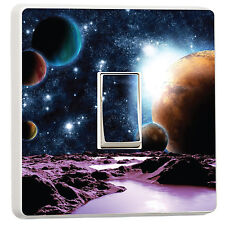 Space Planets Moons light switch cover sticker photo (11720919) Space Galaxy