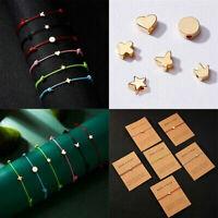 Friendship Cross Crown Heart Star Rope Bracelet Bangle Couple Card Jewelry Charm