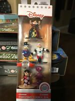 Disney Nano Metalfigs Die Cast Metal 5 Pack Collector's Set Scrooge Cheshire