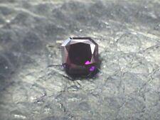 0.22 CT Radiant Fancy Deep Brown Purple Loose Diamond! GIA