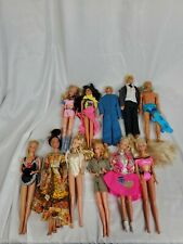 Vintage Barbie Ken Friends Fashion Dolls Clothes Lot Of 11