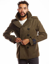DIESEL W-CHAMP WOOL BLEND PEACOAT SIZE L 100% AUTHENTIC
