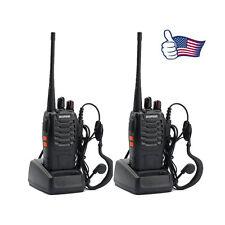 2x BAOFENG BF-888S UHF 400-470MHz 5W 16CH Ham Two Way Radio Walkie/Talkie US