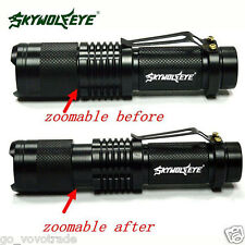 Super Bright CREE XML T6 Tactical Zoomable 5000 Lumen LED Flashlight Torch Lamp